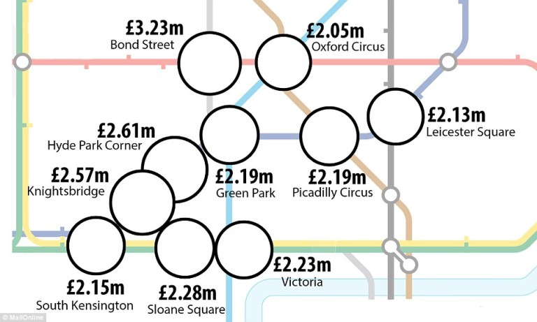 London Property Prices On A Tube Map